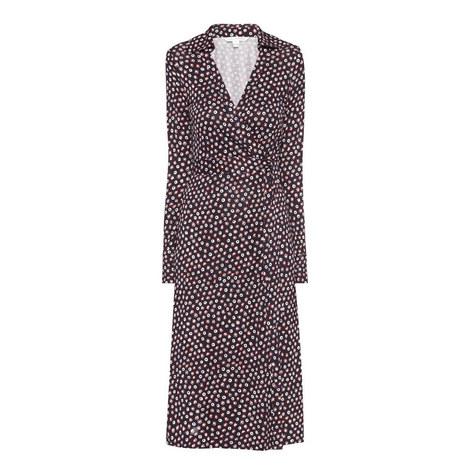 Cybil Print Wrap Dress, ${color}