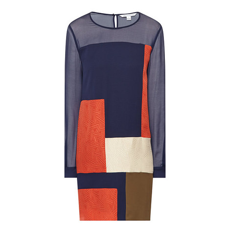 Raegan Silk Colour Block Dress, ${color}