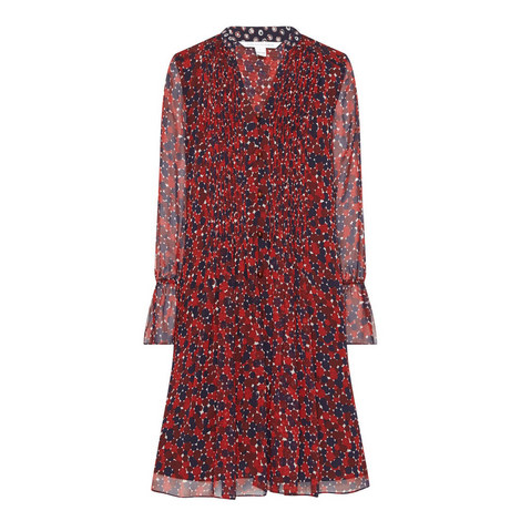 Kourtni Printed Frill Dress, ${color}