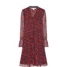 Kourtni Printed Frill Dress