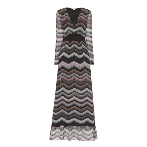 Lizabeth Silk Print Maxi Dress, ${color}