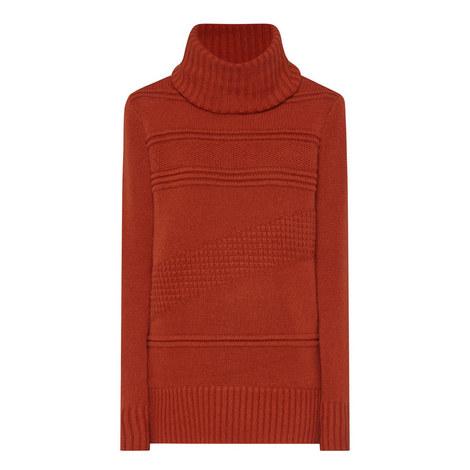 Talassa Longline Polo Neck Sweater, ${color}