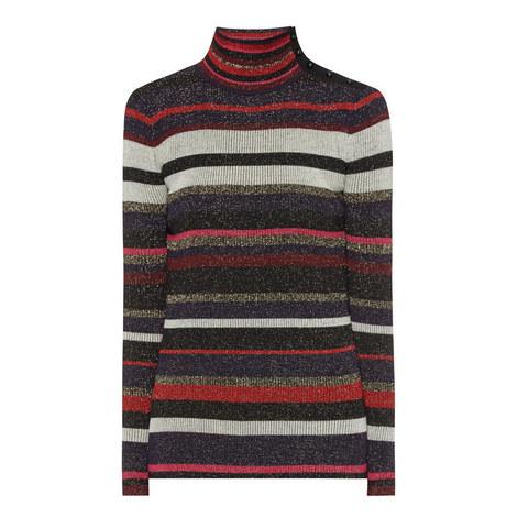 Leela Stripe Lurex Sweater, ${color}