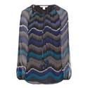 Saylor Patterned Chiffon Blouse, ${color}