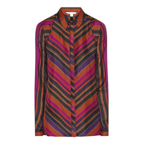 Chrissie Striped Blouse, ${color}