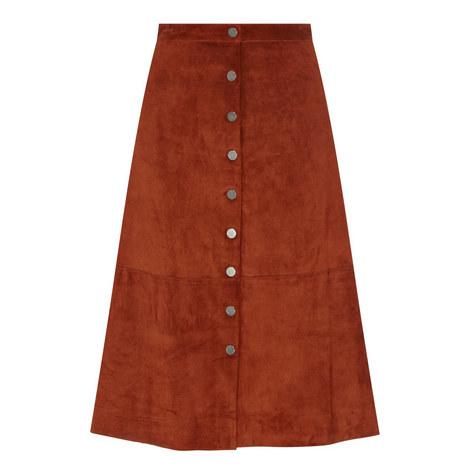 Gracelynn Suede Midi Skirt, ${color}