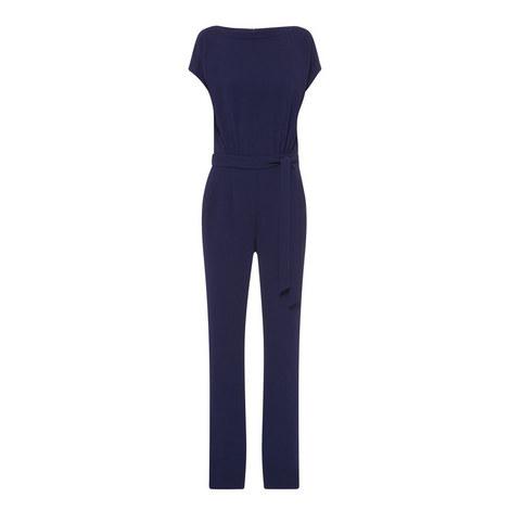 Sandra Boatneck Crepe Jumpsuit, ${color}
