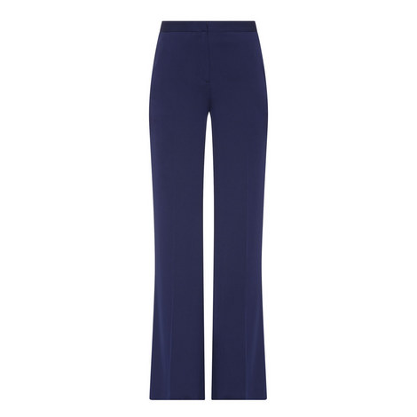Katara Wide Stretch-Silk Trousers, ${color}