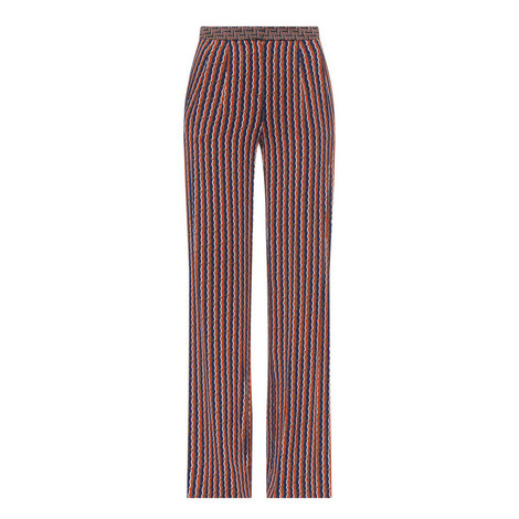 Campbell Silk Stripe Pants, ${color}