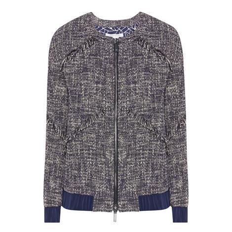 Braelyn Tweed Bomber Jacket, ${color}