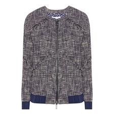 Braelyn Tweed Bomber Jacket