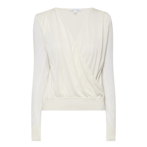 Paz Knitted Wrap Front Sweater, ${color}