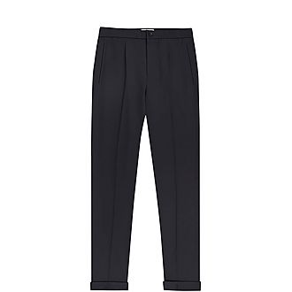 Japane Pleat-Front Drawstring Trousers