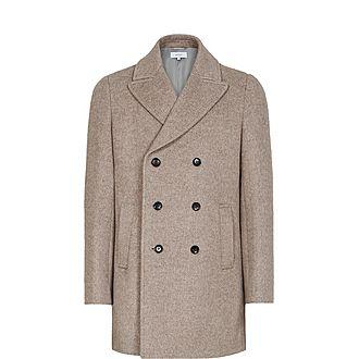 Duomo Herringbone Double-Breasted Coat