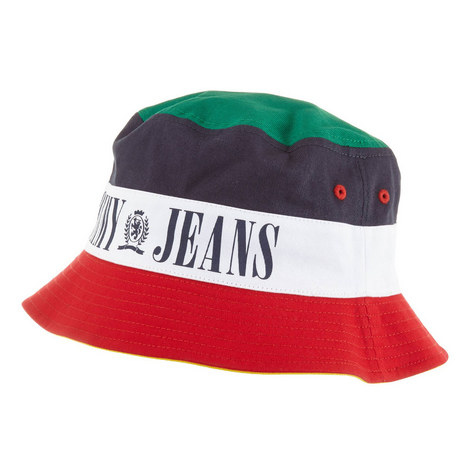 Colour-Block Logo Bucket Hat, ${color}
