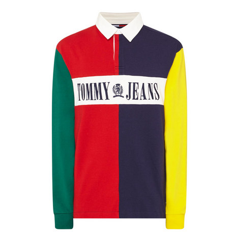 Colour-Block Rugby Shirt , ${color}