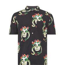 Skull Snakeskin Bowling Shirt