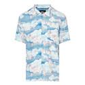 Clouds Bird Print Shirt, ${color}