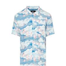 Clouds Bird Print Shirt