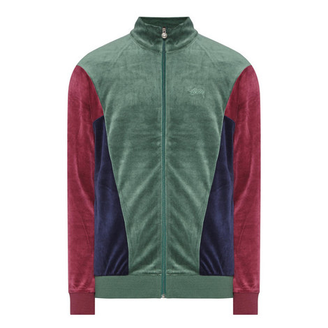 Panelled Velour Track Top, ${color}