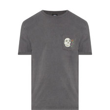 Calavera Skull Snake Print T-Shirt