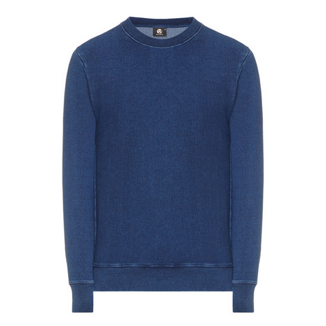 Crew Neck Loopback Jersey Sweatshirt, ${color}