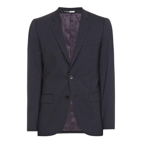 Gingham Print Jacket, ${color}