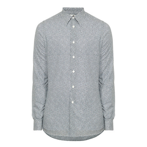 Tailored Fit Heart Print Shirt, ${color}