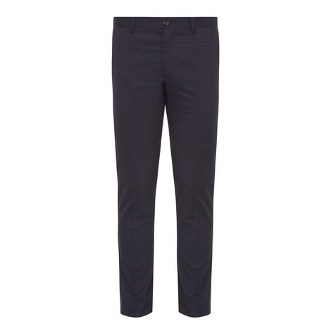 Check Mid Fit Trousers, ${color}