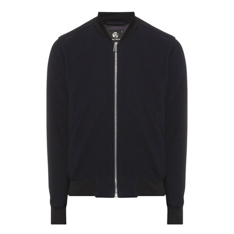 Textured Bomber Jacket, ${color}