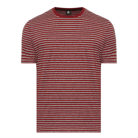 Striped Crew Neck T-Shirt, ${color}