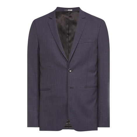 Faded Check Wool Blazer, ${color}