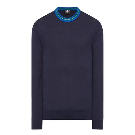 Stripe Crew Neck Sweater, ${color}