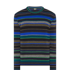 Stripe Wool Crew Neck Sweater