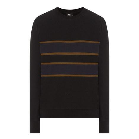 Stripe Detail Crew Neck Sweatshirt, ${color}