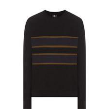 Stripe Detail Crew Neck Sweatshirt