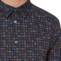 Paisley Print Slim Fit Shirt, ${color}