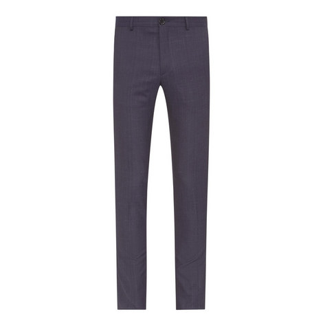 Slim Fit Faded Check Trousers, ${color}