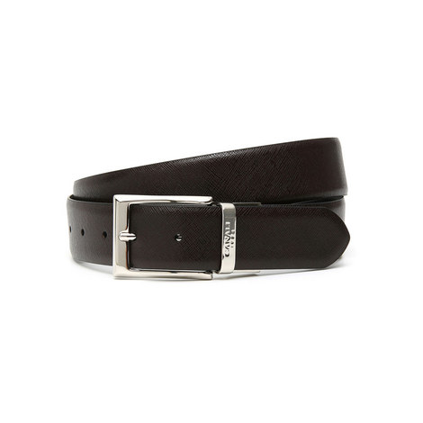 Reverse Textured Leather Belt, ${color}