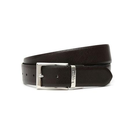 Reverse Textured Leather Belt, ${color}
