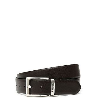 Reverse Textured Leather Belt