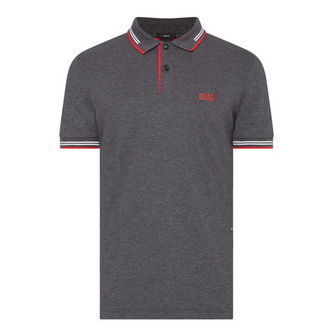 PAUL CHARCOAL RED TIP POLO, ${color}