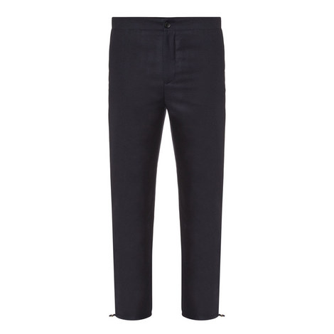 Pace Drawstring Hem Wool Trousers, ${color}