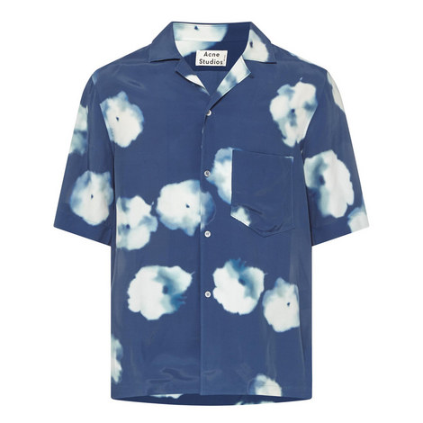 Cloud Print Bowling Shirt, ${color}