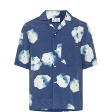 Cloud Print Bowling Shirt