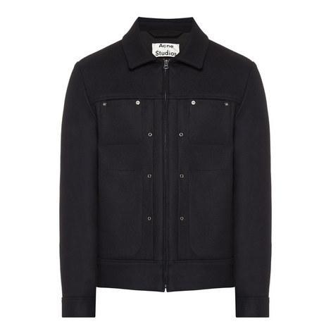 Metal Wool Zip-Through Jacket, ${color}