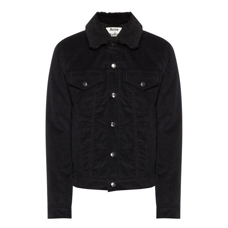 Shearling Collar Cord Jacket, ${color}