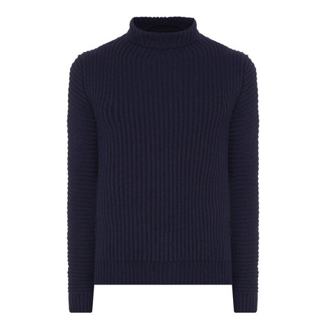 Kalle Ribbed Polo Neck Sweater, ${color}