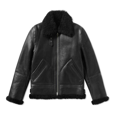 Ian Leather Shearling Jacket, ${color}