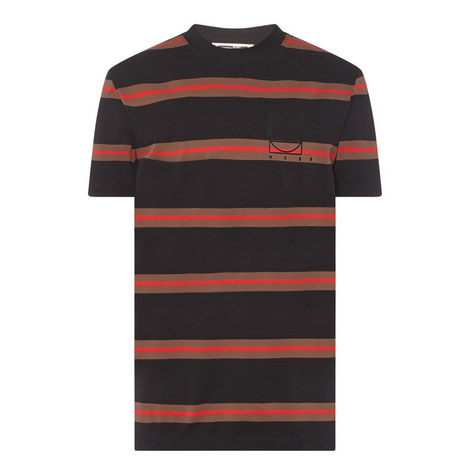 Stripe Piqué Crew Neck T-Shirt, ${color}